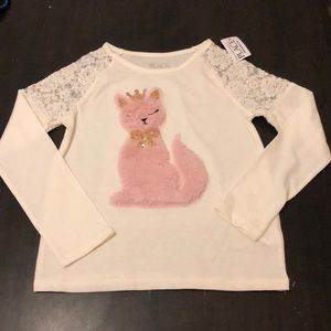 The Children's Place cat shirt size 5/6